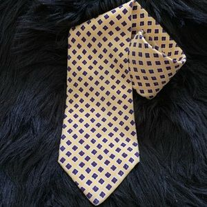 Polo University Ralph Lauren Yellow Blue Red Tie